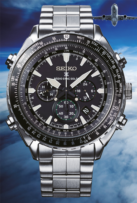 b9230e164 ... are what all pilots need from the watches that they take with them into  the skies. The new Prospex Radio Sync Solar World Time Chronograph ...
